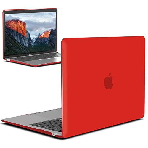 IBENZER MacBook Air 13 Inch Case 2020 2019 2018 New Version A2179 A1932, Hard Shell Case Cover for Apple Mac Air 13 Retina with Touch ID, Red, MMA-T13RD