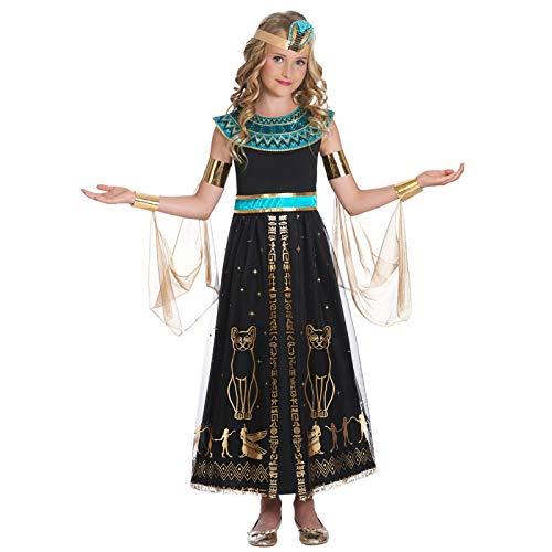 amscan- Conjunto de Disfraz de Cleopatra Deslumbrante para nios, 6-8 aos, 4 Piezas, Color Turquesa, Age Years (9905036)