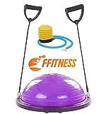FFitness Half Ball with Rope Palla da Fitness, Viola, Taglia Unica