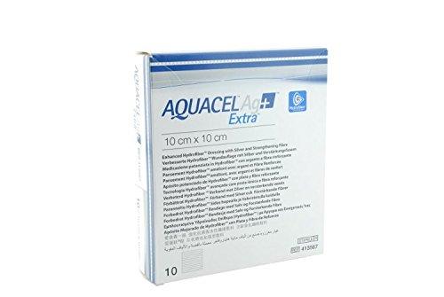Apósito cuadrado para heridas Aquacel Ag Extra, 15x 15 cm.