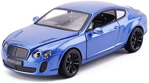 HOOPOO 1,24 simulación del Modelo de Coche de Juguete Modelo de Coche de aleación de 19x8x5.5CM Troquel (Color : Blue)