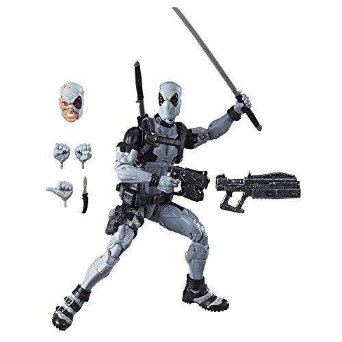 Marvel E1974 Hasbro Legends Series 12' Deadpool Action Figure From Uncanny X-Force Comics with Blaster/Weapon Accessories & 30 Points Of Articulation (Amazon Exclusive)