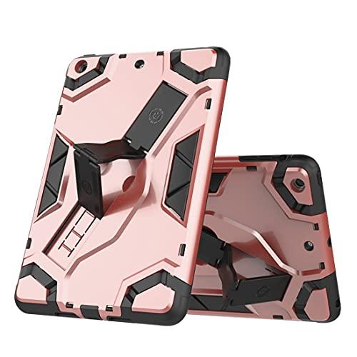 YANCAI Funda Protectora Caja de la Tableta para iPad Mini 1 2 3, TPU + PC Cubierta Protectora multifunción a Prueba de Golpes con asteroide Plegable (Color : Pink)