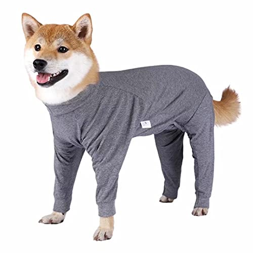 Xqpetlihai Dog Onesie Surgery Recovery Suit for Medium Large Dogs Recovery Shirt for Abdominal Wounds or Skin Diseases Bodysuit Dogs Pajamas for Shedding Allergy Anti Licking(G,XL)
