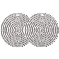 Brusmo シリコン鍋敷き 耐熱皿マット トリベット コースター 断熱パッド 鍋つかみ ポットコースター 2枚セット (渦巻き型)