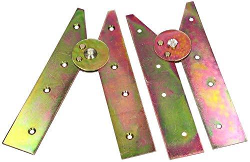 KOTARBAU Bisagras para escalera de 2 unidades, 200 mm, color amarillo, galvanizadas