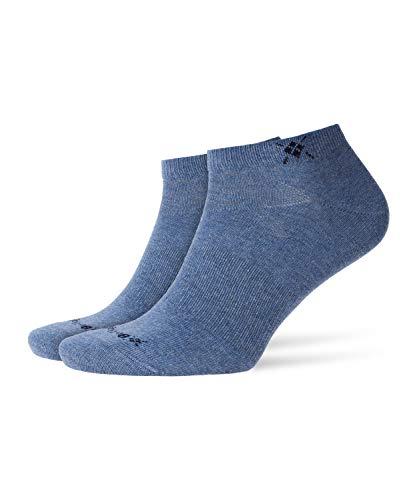 Burlington Everyday 2-Pack M SN Socquettes, Bleu (Light Jeans 6662), 40-46 (UK 6.5-11 Ι US 7.5-12) (Lot de 2) Homme
