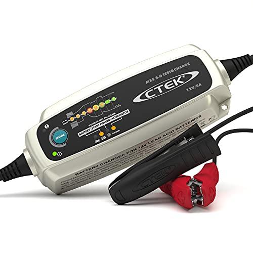 CTEK MXS 5.0 Test & Charge, Batterieladegerät 12V 5A, Batteriepfleger, Ladegerät Auto Und LKW Ladegerät, Testet Batterie Und Lichtmaschine, Entsulfatierungsprogramm Und Rekonditionierungsmodus