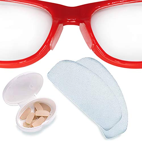 Setex Gecko Grip Anti-Slip Clear Nose Pads for Eyeglasses, USA Made, Micro-Structured Fibers, Ultra-Strong Grip and Ultra-Soft, 5 Clear Pairs with Self Stick Adhesive, 1mm x 7mm x 16mm
