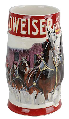 Budweiser 2018 Clydesdales Holiday Stein, 31-ounce