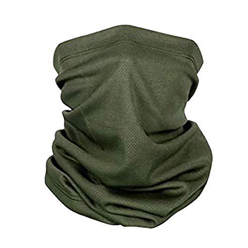 Hunpta @ Material de la cubierta de la cara hecha a mano para hacer tú mismo, de tela, 90 x 90 cm, para mujer, diseño de jirafa, bufanda de hiyab, cabeza cuadrada, bufandas, bufandas DIY Verde militar.