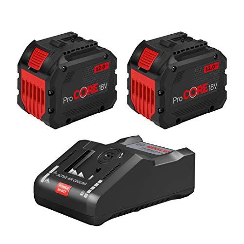 Bosch Professional 1600A016GY ProCORE18V Cargador de baterías de 12 Ah y GAL 18V-160 C, Caja, Azul, 18 V