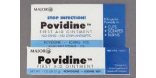 Special Pack of 5 POVIDONE Iodine Ointment 10% 1oz Tubes