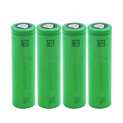 4 Unids/Set 3.6Volt Power Battery Green Flat Top 18650 Baterías de Litio 2100mAh US18650-VTC4 Reemplazo de Celdas Recargables para antorcha