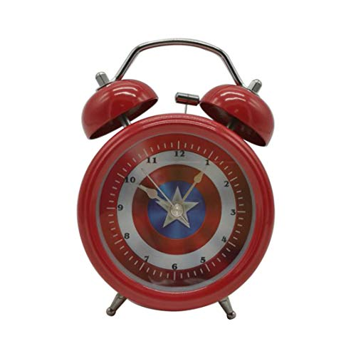Wolf Warrior Novelty Superhero Analog Alarm Clock Silent Sweep Night Backlight Home Decoration Round Desk Alarm Clock Children Gift