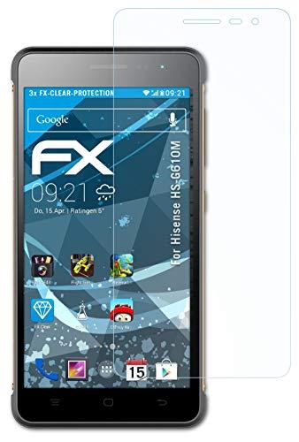 atFolix Schutzfolie kompatibel mit Hisense HS-G610M Folie, ultraklare FX Bildschirmschutzfolie (3X)