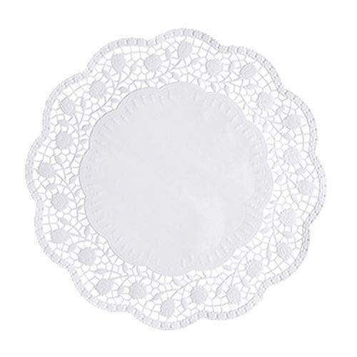 Papstar 18270 taartpunten rond ø 30 cm, 250 stuks, wit