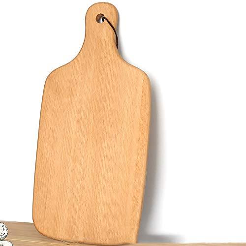 LUFKLAHN Beech Pizza Brett, Pizza-Kuchen Backblech Werkzeug, mit Griff, kann auch als Schneidebrett verwendet Werden