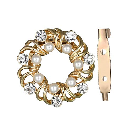 Yunfeng Brooch for Wedding Prom Brooch High-end Brooch Hundred-Lap Sparkle Garland Pearl Skin Shoulder Buckle Jewelry
