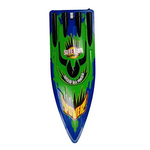 FBGood Fernbedienung Elektro Boote,25km/h RC-Rennboot,Zwei Motoren Schnellboot mit Wiederaufladbarer Batterie,Bestes Weihnachtsgeburtstagsgeschenk für Erwachsene und Kinder (GRÜN, A)