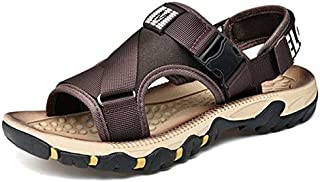 Men's Sandals New Summer Outdoor Shoes Breathable Beach Wather Male Flip Flops Casual Water Slippers Hombre (Color : Brown, Shoe Size : 41)