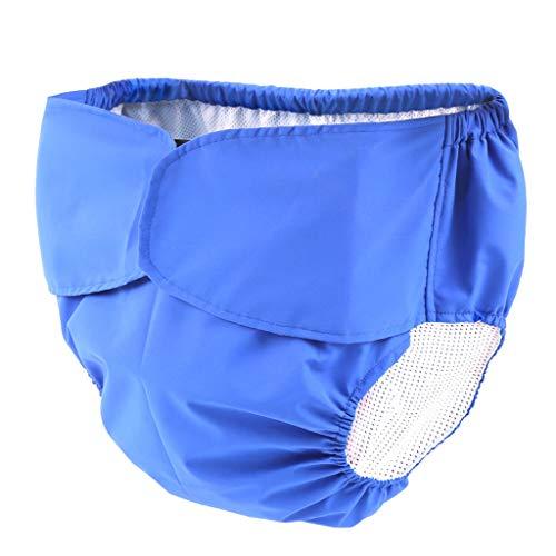 CBAQ Adultos Pañales del Paño Pañal, Pañal Pantalones Reutilizables Pueden Lavar Los Pañales De Tela Transpirable A Prueba De Fugas De Pañales Unisex Pañales para Personas Mayores (Azul),XL