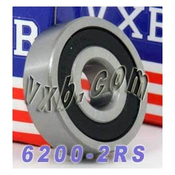 1.18 Carbon Steel uxcell a13111500ux1332 6200 2RS Sealed Deep Groove Ball Bearing 10mm x 30mm x 9mm