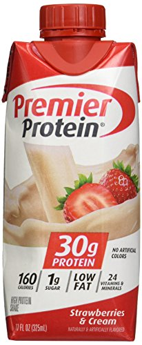 Premier Nutrition High Protein Shake, Strawberry Cream, 18 Count