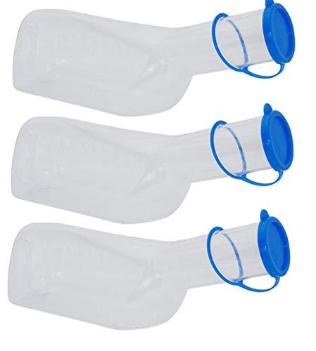 Medi-Inn Urinflasche PP für Männer | 1 Liter Fassungsvermögen | autoklavierbar | 3 Stück