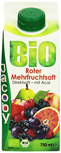 Jacoby Bio Roter Mehrfruchtsaft, 8er Pack (8 x 750 ml)