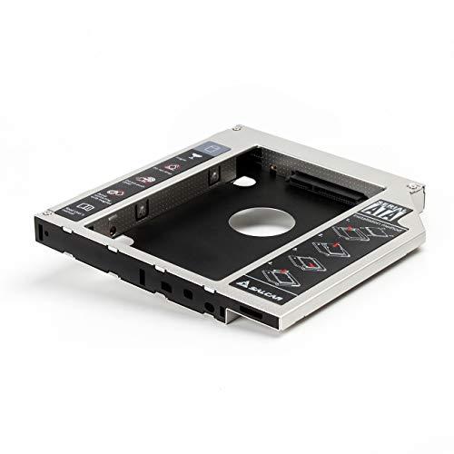 Salcar - 2nd HDD SSD SATA III, adattatore hard disk Caddy con bay drive da 12,7 mm per hard disk SATA da 2,5 pollici (alluminio)