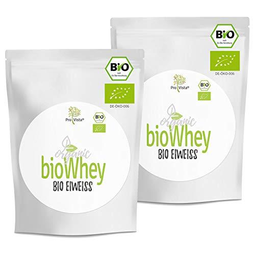 ProVista Bio Whey Protein Honig-Vanille 900 - Organic Whey Molkeneiweiss (2 x 420g) aus Schweizer Alpenmilch