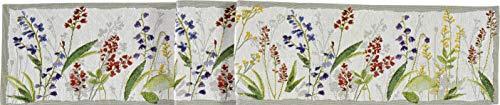 Sander Gobelin Tischläufer 20x160 cm florales Motiv Blumenwiese Blüten Blumen (Tischband)