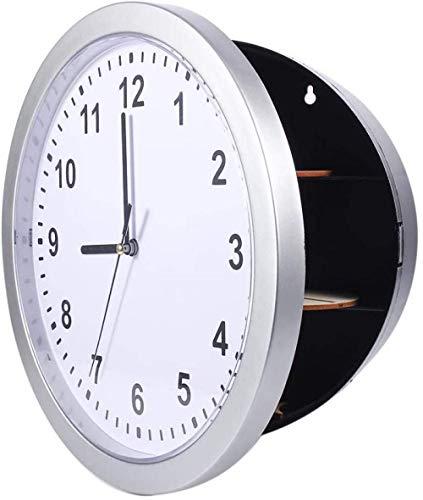 Reloj De Pared, Guardar Dinero. Objetos De Valor De La Joyería. Almacenamiento En Efectivo. Caja De Ocultación Secreta. Caja Fácil De Leer