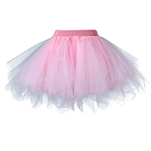 FEOYA Mädchen Kinder Tüllrock Retro Ballettrock Petticoat Tanzkleid Party Tuturock Ballettkleid Tütü Cosplay Unterrock Ballett Verkleiden