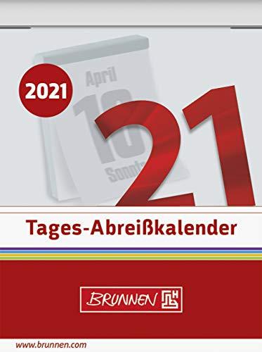BRUNNEN 1070302001 Tages-Abreißkalender Nr. 2, 1 Seite = 1 Tag, 54 x 71 mm, Kalendarium 2021