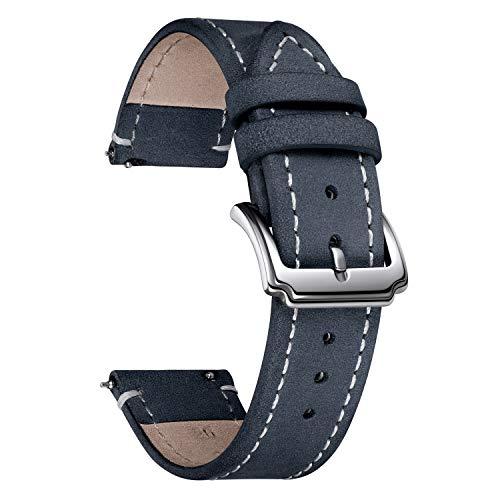 BINLUN Quick Release Correa de Reloj de Cuero Crazy Horse Correa de...