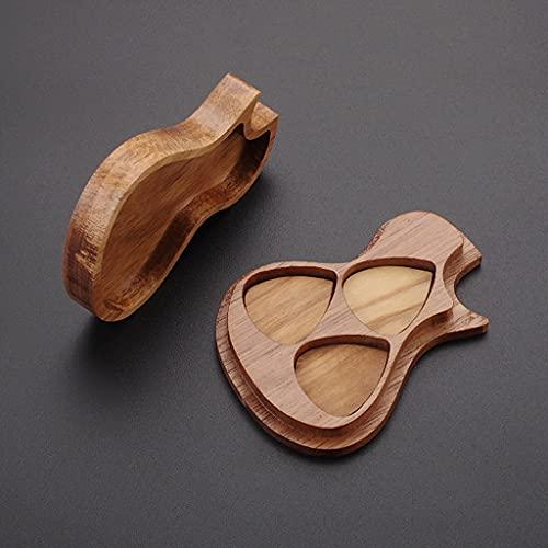 YOURPAI Púas triangulares, 1 juego hecho a mano de madera para guitarrista, amantes de la música, regalos de superficie delicada y duradera, marrón