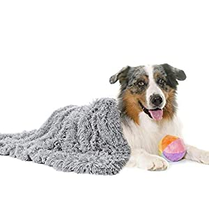 Fluffy Pet Dog Blankets for Medium Large Dogs and Cats, Soft Plush Faux Fur Puppy Snuggle Blankets, Designed for Donut Cuddler Dog Bed, Self-Warming, Machine Washable