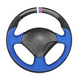 LYSHUI Cubierta de Cuero Negro para Volante, para Honda S2000 2000-2006 2007 2008 Civic Si 2002-2004 Acura RSX Type-S 2005