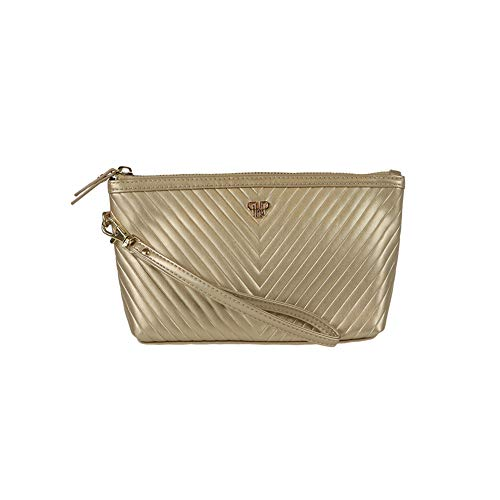 Getaway Wristlet Small Makeup Case (Gold)