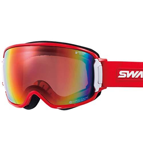 【国産ブランド】SWANS(スワンズ) スキー スノーボード ゴーグル くもり止め プレミアムアンチフォグ搭載 ...