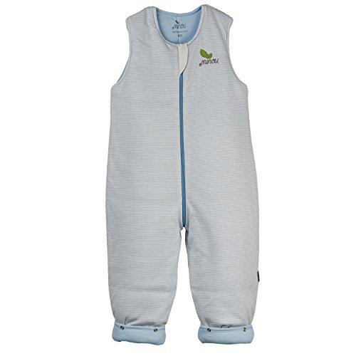 Minou Walker 80 Schlafsack mit Beinen 100% Bio Baumwolle Blau Gestreift 141280