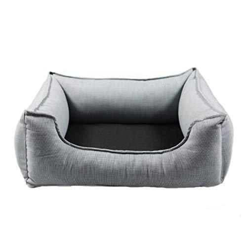 Wolters Dog Lounge Noble Stripes Denim/Granit 80 x 65 cm
