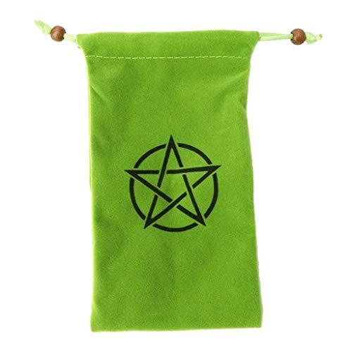 Sharplace Mantel de Tarot de Altar, Tela de Terciopelo Wicca de Adivinación/Bolsa de Tarot - Verde