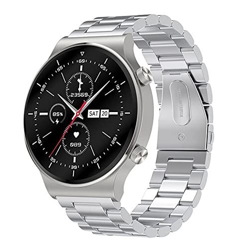 Rvlaugoaa Bluetooth Smart Watch 1.3 Pulgadas Full Touch Pulsera Inteligente Podómetro Salud Fitness Tracker Pulsera Deportiva IP68 Reloj Inteligente A Prueba De Agua para Teléfonos Android iOS,E