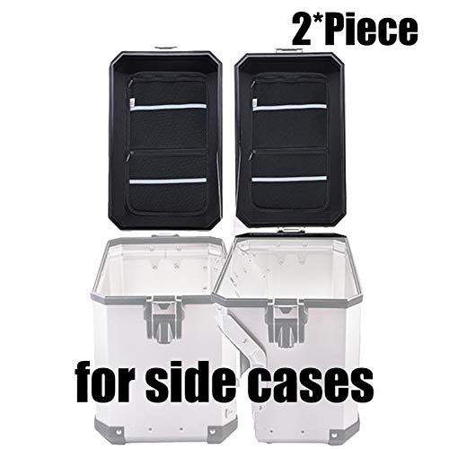 Motorcycle cover and mouldings Fit For BMW R1200GS LC Adventure F800GS Luggage Box Inner Container Fit For BMW GS 1200 GS LC R1250GS F700GS Top Side Case Cover Bag (Color : Two Side Cases)