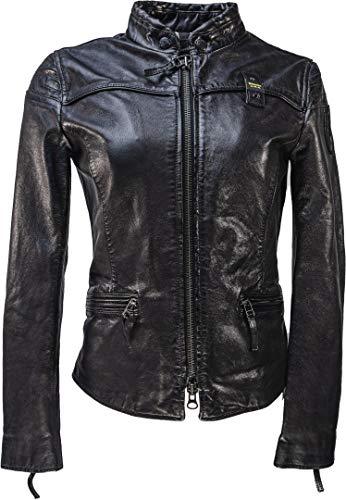 Blauer USA Sarena Damen Lederjacke Schwarz XL