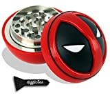 Official Deadpool Herb Grinder With BONUS Scraper - Marvel Gifts, Deadpool Gifts - Cool Grinders For Herb - 3 Piece Grinder, 2.2 inches by Nestpark