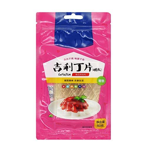 Youlin-poedergelatine, 50 G/Zak Veganistisch Poeder Agar-gelatine Smaakloos Gelatinepoeder Voor Het Maken Van Schuim Taartgelei Dessertmix
